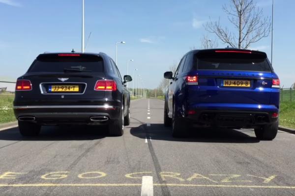 Autovisie: SPRINT Bentley Bentayga vs. Range Rover Sport SVR